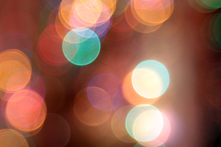 abstract blurred circular bokeh lights background photo