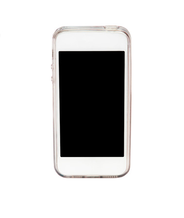 palmtop: smart phone isolated on white background Stock Photo