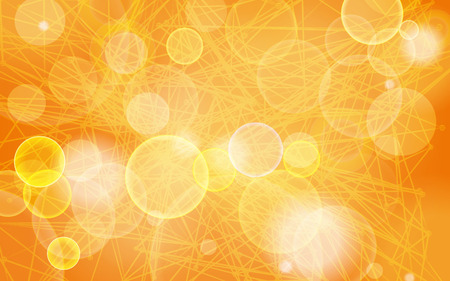 abstract festive bokeh lights on the orange striped background Vector