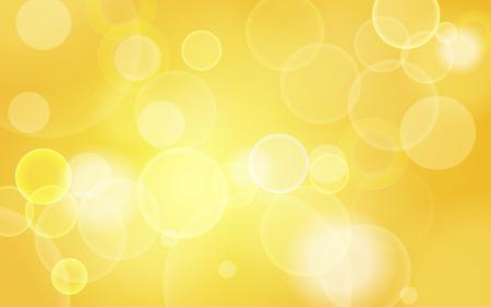 gele abstracte feestelijke bokeh achtergrond verlichting Stock Illustratie