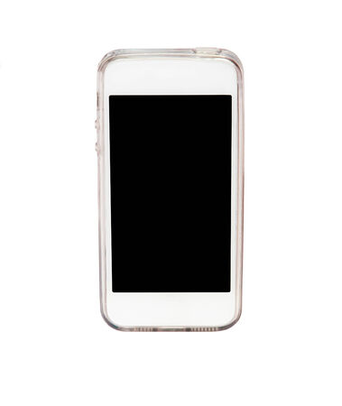 smart phone isolated on white background photo