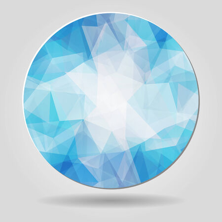 Abstract geometric blue spherical shape from triangular faces for graphic design Vector