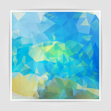 pastel colored: Abstract background with pastel colored Triangular Polygonal  pattern Illustration