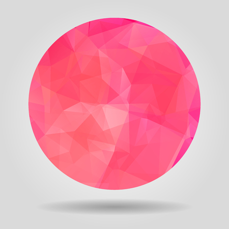 crumpled paper ball: Abstract Pink geometric colourful spherical shape for graphic design