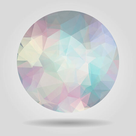 crumpled paper ball: Abstract geometric colourful circular shape for graphic design