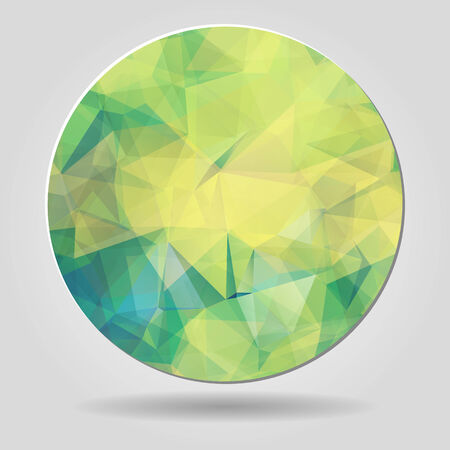 Abstract geometric yellow spherical shape from triangular faces for graphic design Vector