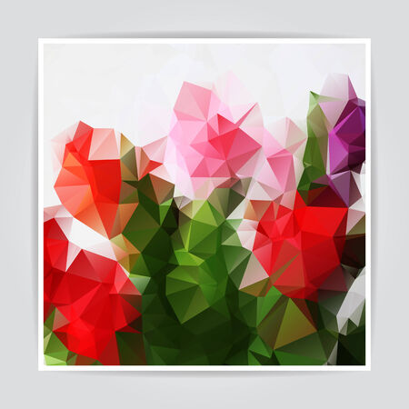 Abstract Natural Colorful Triangle Polygonal background Vector