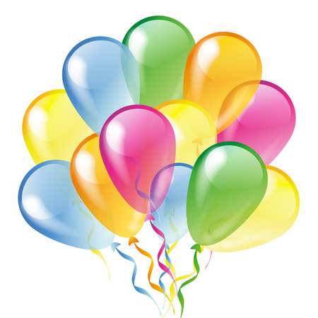 Multicolored glossy balloons isolated on a white background Vector