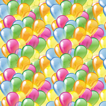 Multicolored glossy balloons seamless pattern Vector