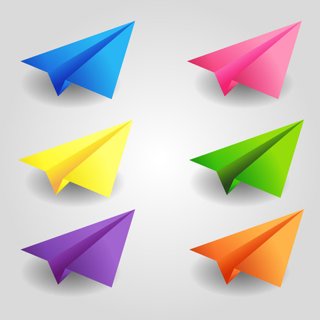 color paper: Conjunto de planos de papel de color Vectores