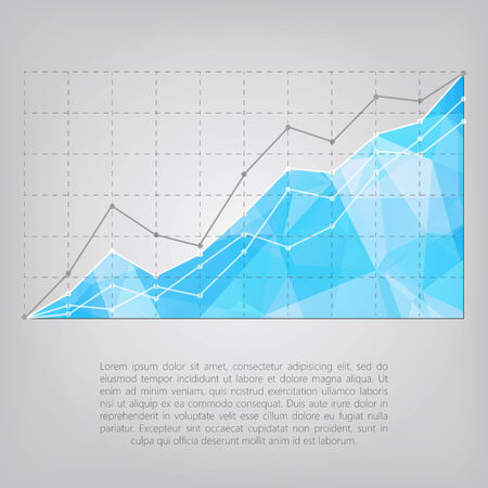 business statistics chart showing different growing graphs Vector