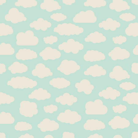 vintage seamless illustration pattern of clouds collection Vector