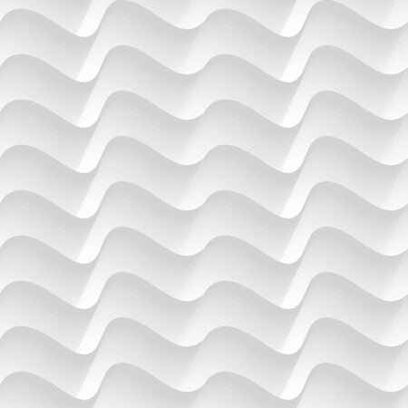 white seamless waves abstract vector pattern Illustration