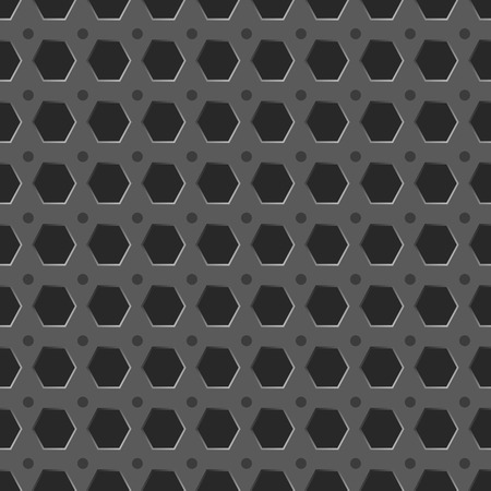 honeycombed: Metal grid seamless pattern vector background