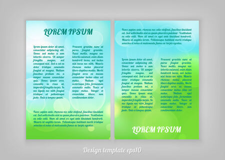 abstract natural flyer design with bokeh lights Vector