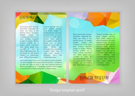 Abstract Colorful Triangular Polygonal geometric flyer design with bokeh lights Vector