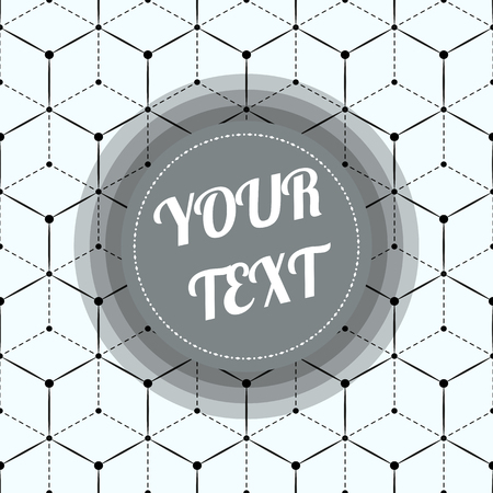text box design: Classic geometric abstract seamless pattern with minimal round text box design stock vector illustration