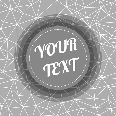 text box design: Abstract Seamless Triangular Polygonal geometric background with minimal round text box design stock vector illustration Illustration