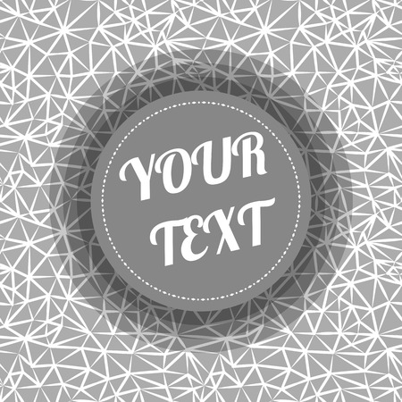 text box design: Abstract geometric seamless pattern with triangles and minimal round text box design stock vector illustration