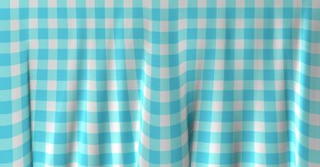 dacha: Blue and white gingham cloth background with fabric texture
