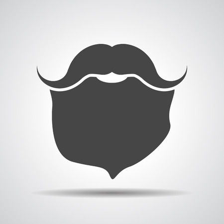hair mask: Mustache with beard icon