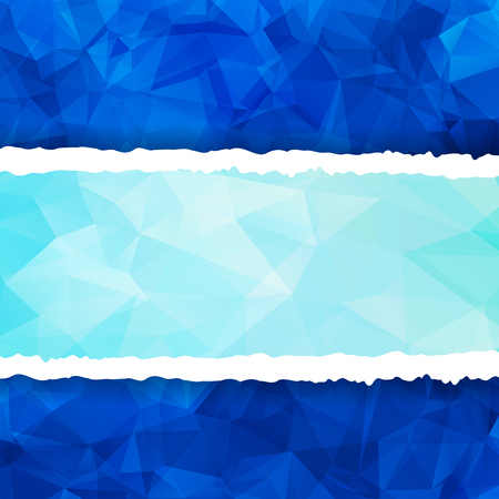 Abstract Blue Triangular Polygonal torn paper Vector