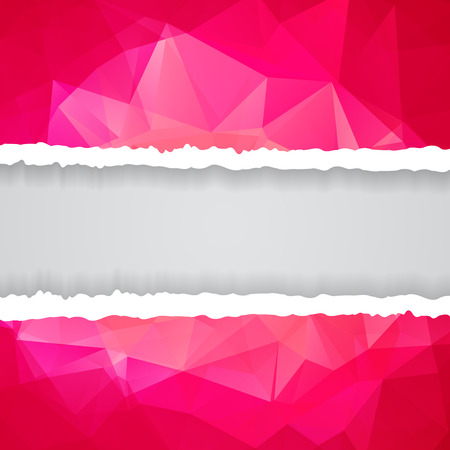 Abstract Pink Triangular Polygonal torn paper Vector