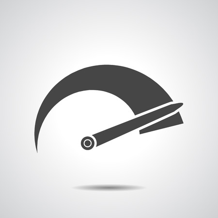 rpm: Tachometer icon on a grey background