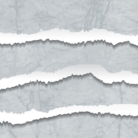 Collection of grey torn Crumbled Textured Paper Vector