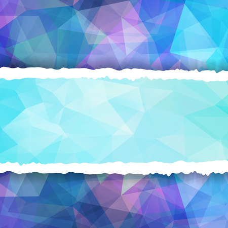 Abstract Colorful Triangle Polygonal torn paper Vector