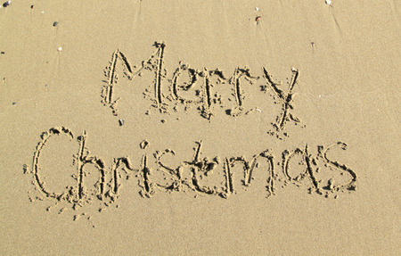 Merry Christmas in the sand photo