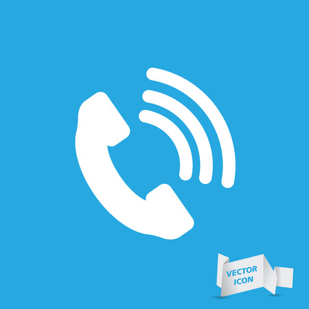 receiver: Telephone receiver vector icon Illustration