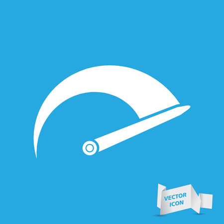 rpm: Tachometer icon on a blue background