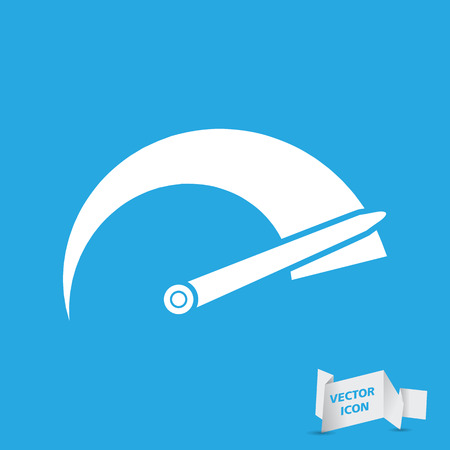 tachometer: Tachometer icon on a blue background