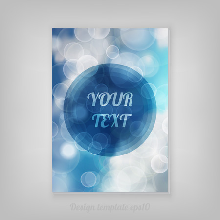 light beams: Blue and White Lights Sky Festive background with light beams cover design with minimal round text box