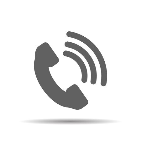 cell phone booth: Telephone receiver vector icon on a white background