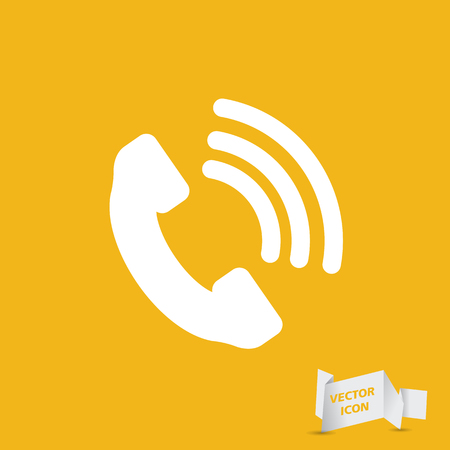 cell phone booth: Telephone receiver vector icon Illustration