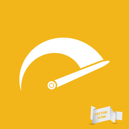 tachometer: Tachometer icon on the yellow background