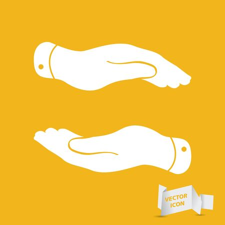 caring hands: caring hands icon - protecting vector illustration