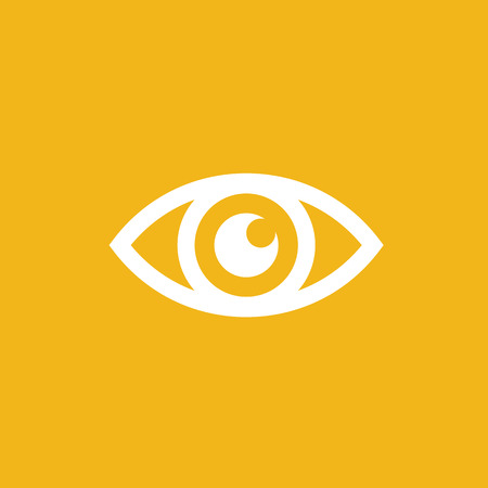 isolated on a white background: Eye icon - vector illustration Illustration