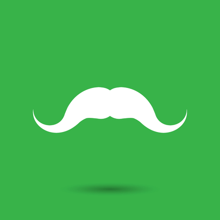 cartoon hairdresser: Mustache Icon - Vector illustration