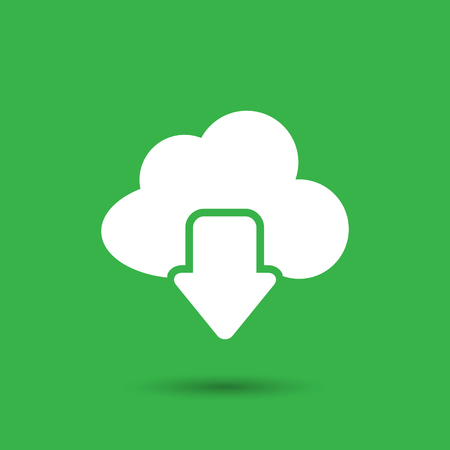 phone: Vector cloud computing download icon