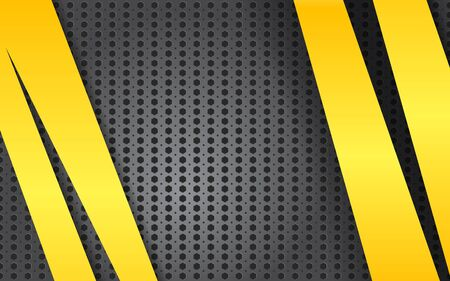 dark fiber: Abstract metal background with yellow lines. Vector illustration.