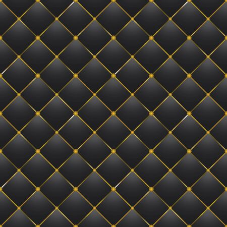 chester: button-tufted black leather background
