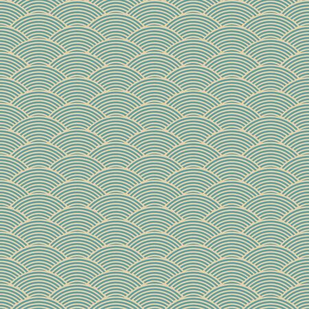 strip structure: vintage blue seamless waves abstract pattern