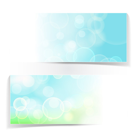 bubble background: abstract natural bokeh lights vector banner. Abstract natural header vector background.
