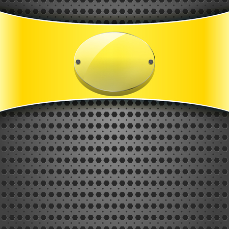 carbon fiber: yellow label with transparency plate on the metallic background