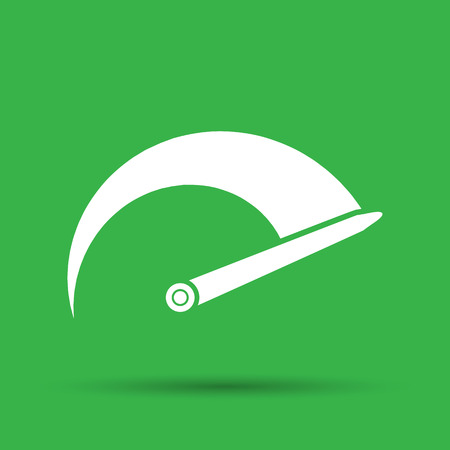 tachometer: Tachometer icon on the green background