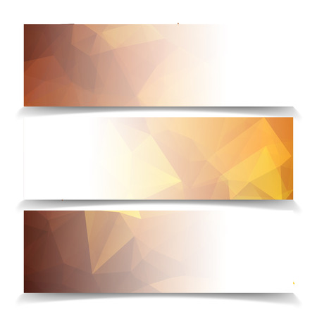 abstract fire: Abstract Orange Triangular Polygonal vector banners set Illustration