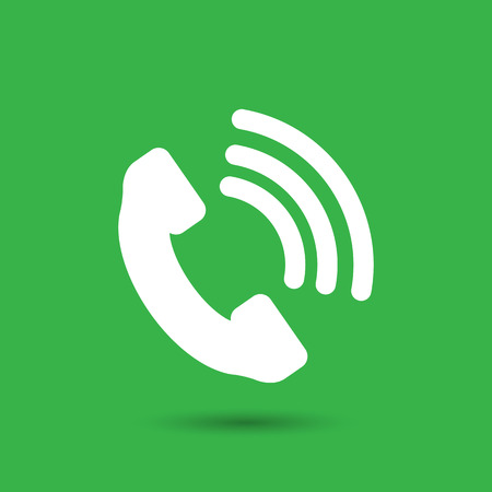 telephone receiver: Telephone receiver vector icon Illustration